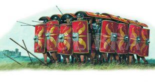 تاکتیک دفاعی سربازان رومی در مقابل کمانداران پارتی