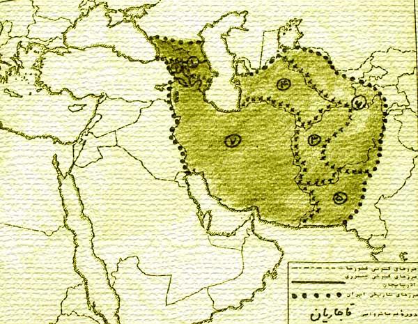 وسعت ایران در دوران قاجار و از دست دادن آن ها قبل از دوران پهلوی