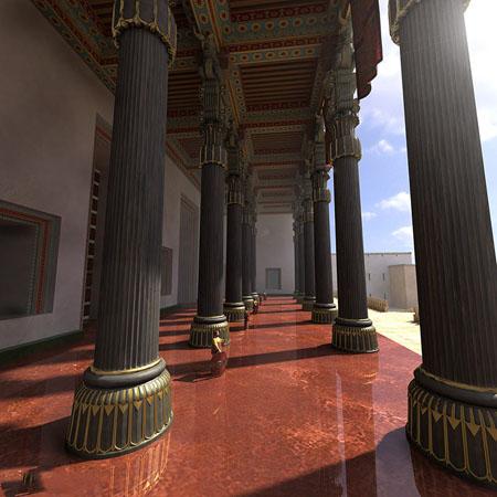 تصاویر بازسازی شده تخت جمشید پایتخت هخامنشیان