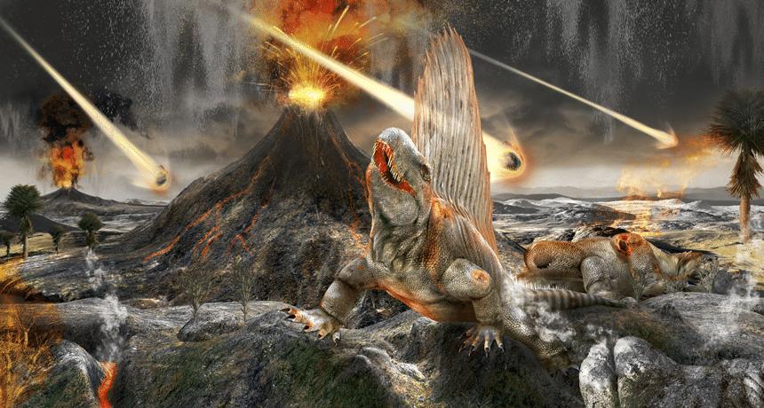 چه چیزی باغث نابودی و انقراض دایناسور ها شد؟
