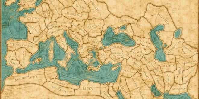 نقشه ی جهان باستان